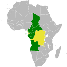En vert : les 8 Etats ayant signé et ratifié la Convention ; en jaune : les 3 Etats l'ayant seulement ratifiée